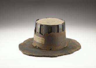 AN1836 p.178.21 John Bradshaw's hat, 17th century. Image © Ashmolean Museum, University of Oxford