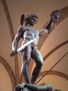Statue of Perseus by Benvenuto Cellini, Loggia dei Lanzi, Florence, Italy