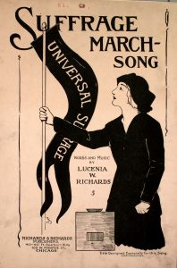 Sheet Music Cover for Suffrage March-Song
