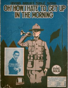 Sheet Music Cover for Oh How I hate to get up in the morning, depicting army bugler