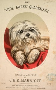 Sheet Music Cover depicting dog
