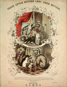 Sheet Music Cover depicting cats