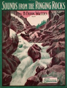 Sheet Music Cover depicting waterfall