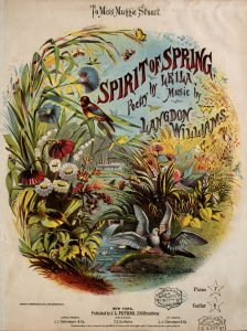 Sheet Music Cover depicting birds and plants