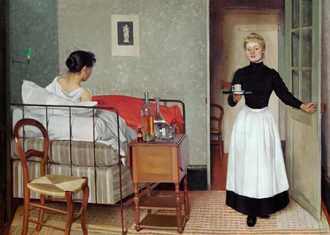 Fe?lix Vallotton, The Sick Patient, Helene Chatenay, 1892 Cropped