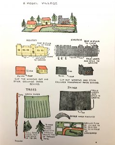 Instructions on building a toy model village
