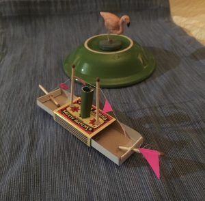 Sail Boat Toy Made from Matchboxes