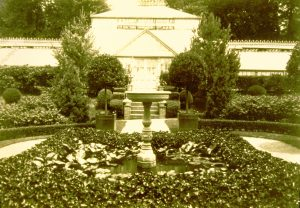 Evergreen's Central Glasshouse, c. 1895, Evergreen House Foundation Collection.