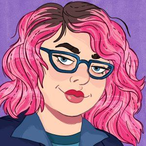 Illustrated portrait of Kristen Acampora