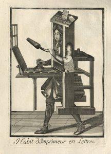Nicolas de Larmessin's Costumes Grotesques: The Printer