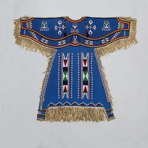 Girl's Dress, Dakota (Eastern Sioux), Yanktonai or Lakota (Teton Sioux), ca. 1900. From the Metropolitan Museum of Art.