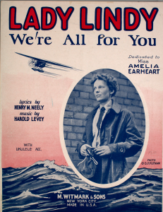 Sheet music cover of Lady Lindy