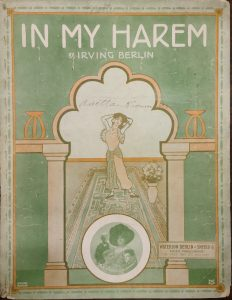 Sheet music cover of In My Harem