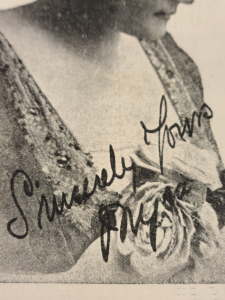 Closeup of autograph