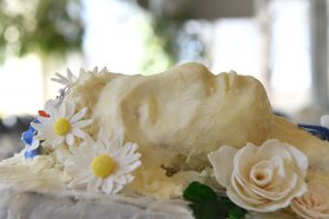 A buttercream cake
