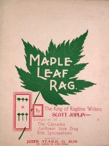 Sheet music cover for Maple Leaf Rag