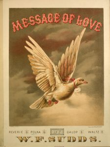 Sheet music cover of Message of Love