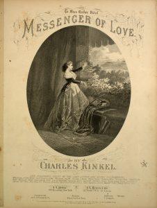 Sheet music cover Messenger of Love