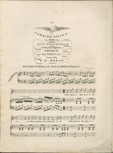 Sheet music cover Carrier Pigeon