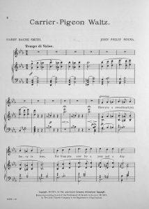 Sheet music Carrier Pigeon Waltz