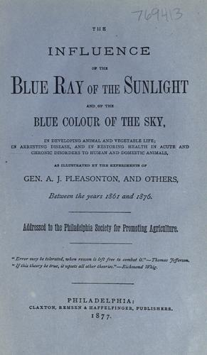 """Cover of book """"Blue Ray of the Sunlight"""""""