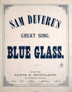 Sheet music cover of Blue Glass