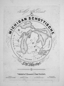 sheet music cover of Michigan Schottische