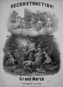 sheet music cover of reconstruction