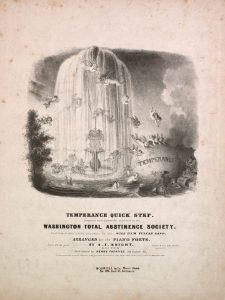 sheet music cover of temperance quick step