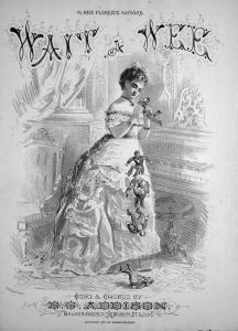 Sheet music cover for Wait a Wee