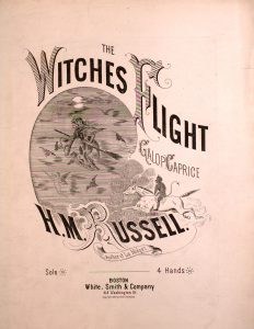 sheet music cover of witches flight