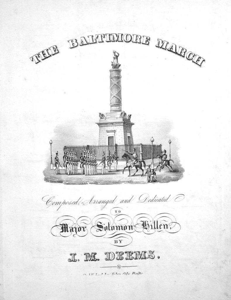 sheet music cover of war monument