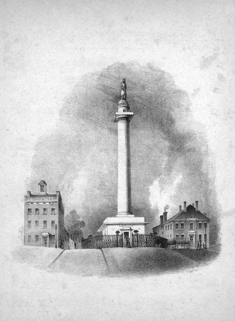 sheet music cover of washington monument