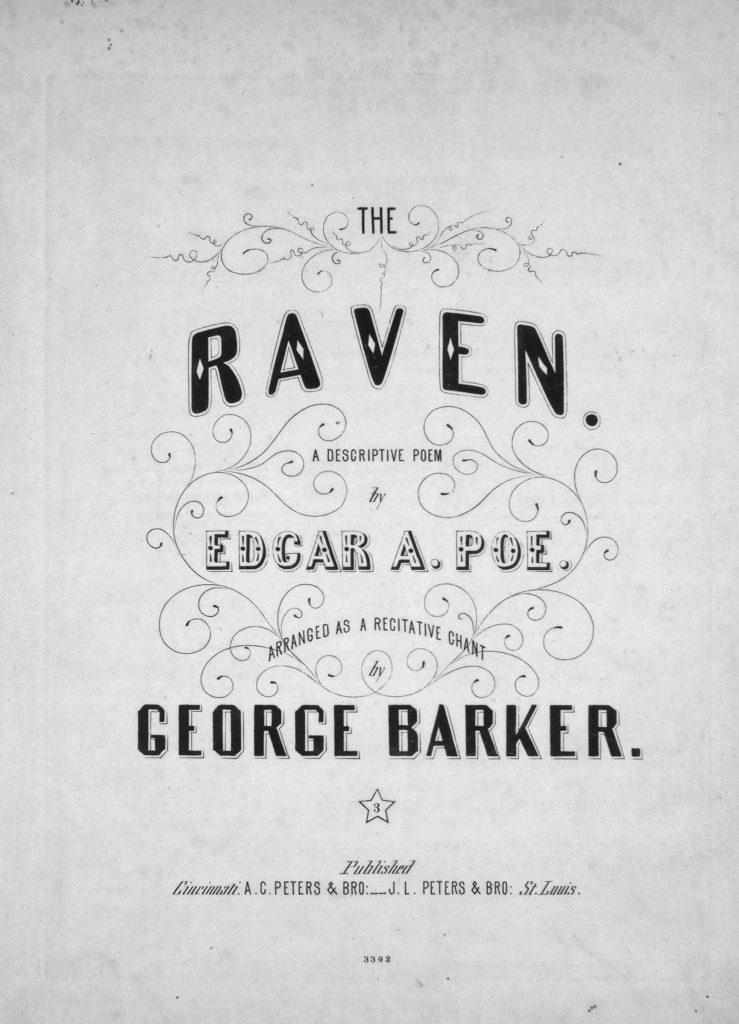 sheet music cover for The Raven