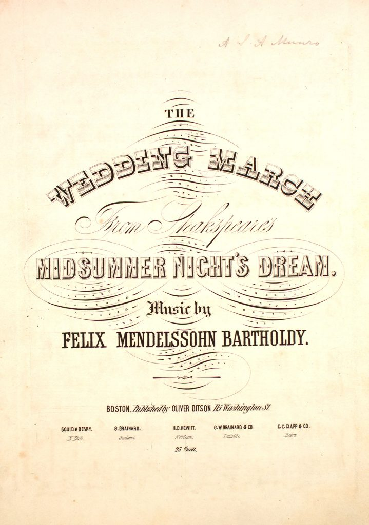 sheet music cover for wedding march