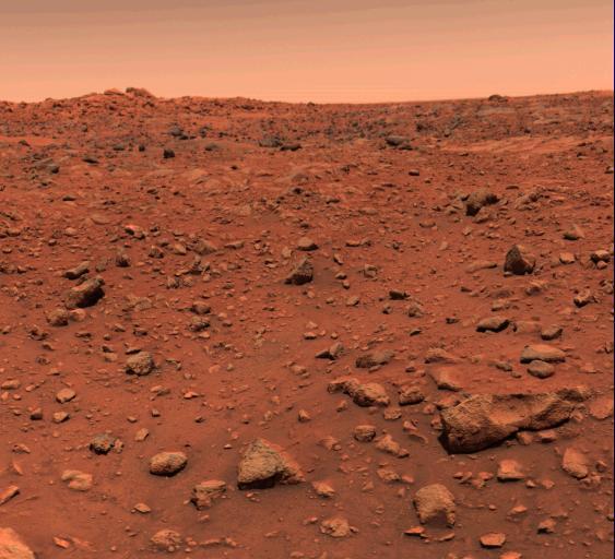 NASA image of the Martian Surface.