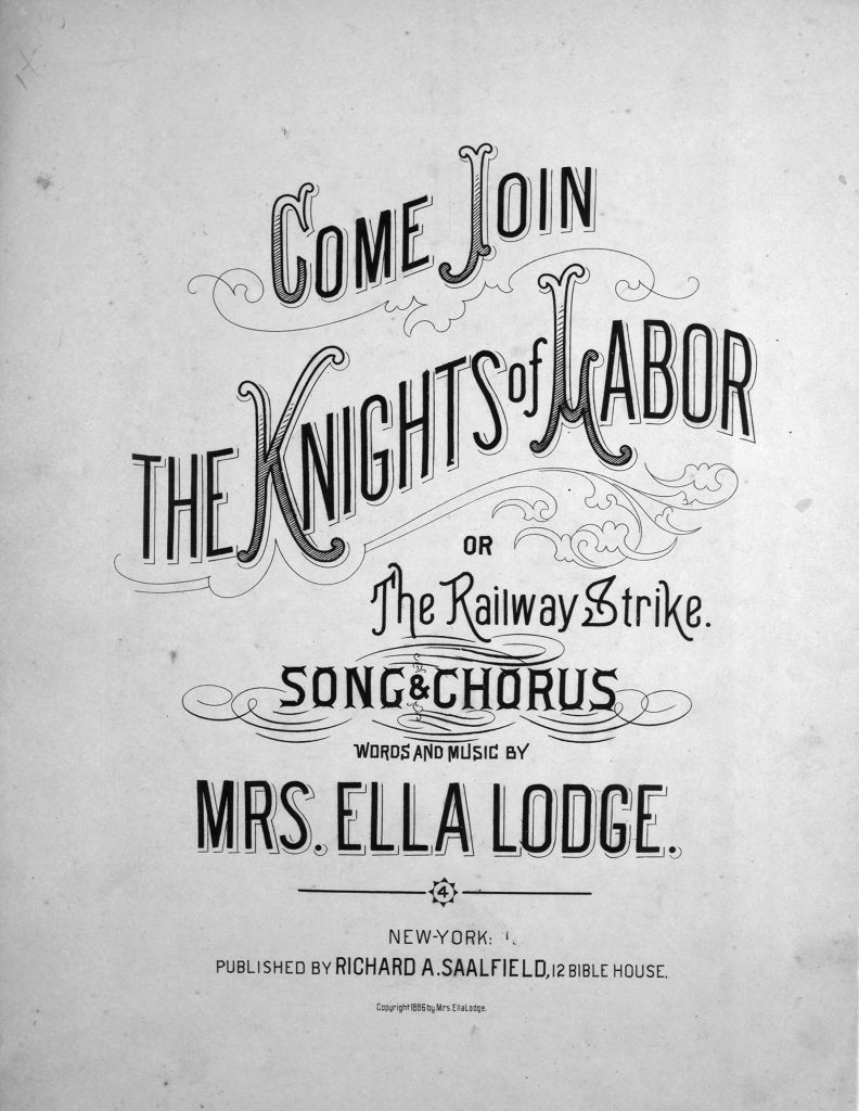 sheet music cover for knights of labor