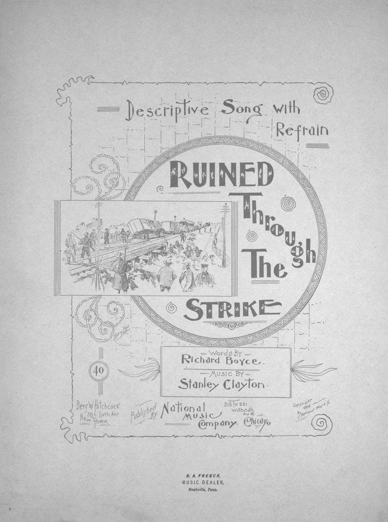 sheet music cover for ruined through the strike