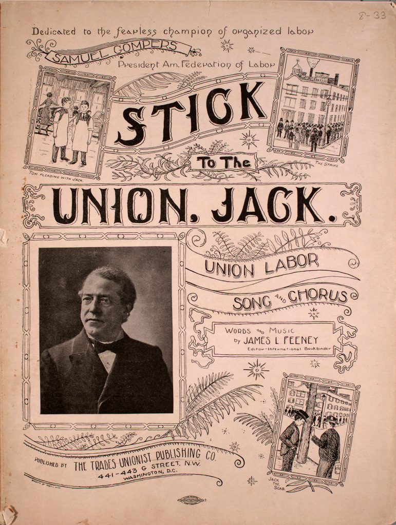 sheet music cover for stick to the union, jack
