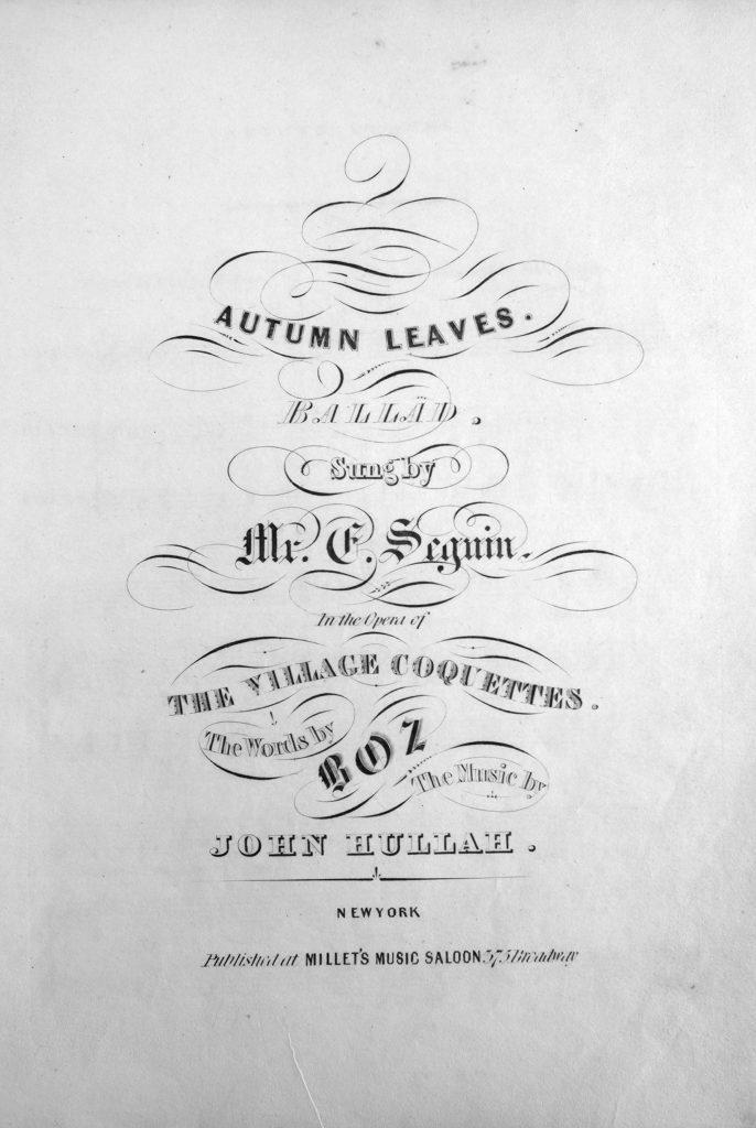 sheet music cover